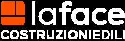 la face - logo bianco