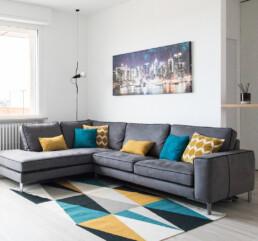 divano e city poster soggiorno